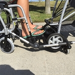 Random Tandem Stroller Trolley for Wheelchairs