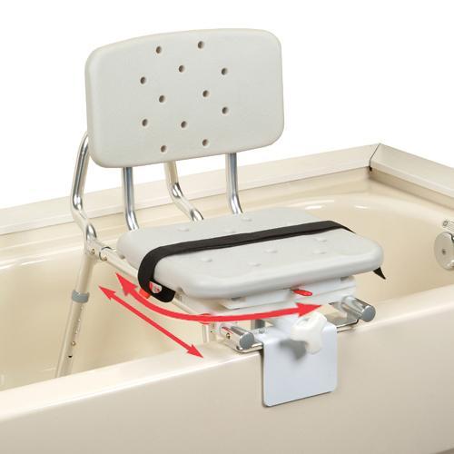 Extra Short Sliding Tub Mount Transfer Bench With Swivel