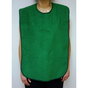 Adult Size Green Terry Cloth Bib - Discontinued