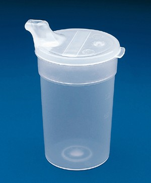 Flo Trol Convalescent Feeding Cup Flow Control Cup With Lid