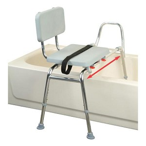 Sliding Transfer Bench with Padded Seat and Back - Discontinued