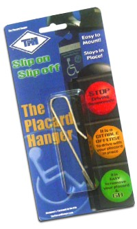 Disabled Parking Placard Hanger - Discontinued
