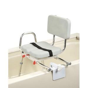 Extra Short Sliding Tub Mount Transfer Bench With Padded