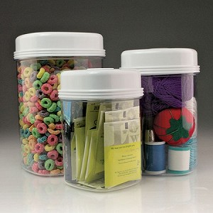 One Hand Easy Open Canister Set