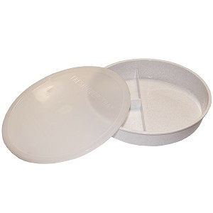 High Sided Divided Plate with Lid