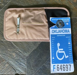 HANDI-CARD Handicap Visor Pocket