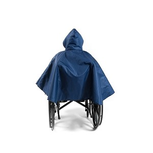 Navy Wheelchair Rain Poncho