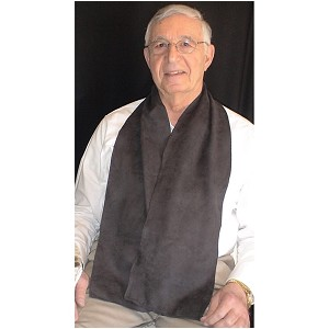 Black Cravaat Dining Scarf :: scarf clothing protector