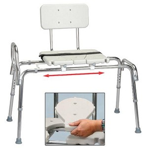 Sliding Transfer Bench with Molded Cut-Out Seat - Discontinued