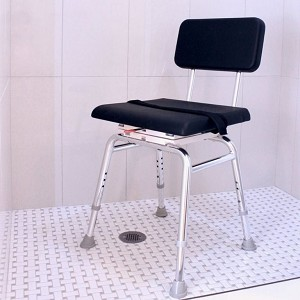 Shower Chair with Padded Swivel Seat