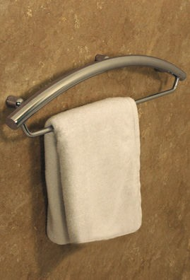 Towel Bar with Integrated Invisia Handrail