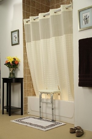 Bench Buddy Hookless Shower Curtain Whitaker