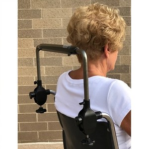 Tall Easy Push Bar for Wheelchairs