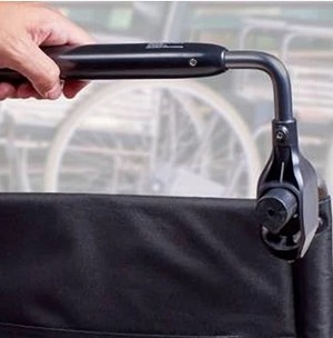 Security Easy Push Bar for Wheelchairs