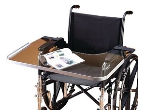Clear Bariatric Wheelchair Work Tray