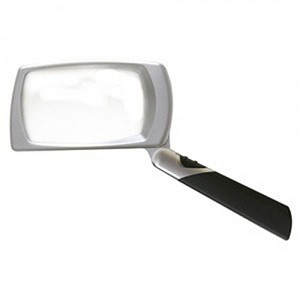 Ultra Optix Folding LED Lighted 3X Magnifier : lightweight handheld magnifying glass